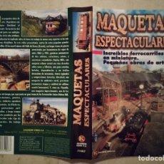 Trenes Escala: CARATULA ORIGINAL -A4- MAQUETAS ESPECTACULARES - TRENES - LOCOMOTORAS. Lote 109055451