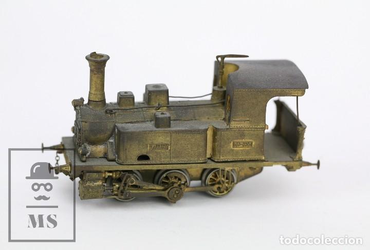 Trenes Escala: Locomotora de Tren de Vapor Eléctrica - RENFE Tarraco 030-0204 - Escala H0 / HO - Latón para Pintar - Foto 3 - 110527239