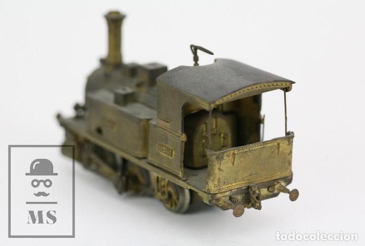Trenes Escala: Locomotora de Tren de Vapor Eléctrica - RENFE Tarraco 030-0204 - Escala H0 / HO - Latón para Pintar - Foto 4 - 110527239