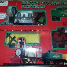Trenes Escala: EXCELENTE TREN ROCKY MOUNTAIN TRAIN. IMPECABLE. CON SU CAJA ORIGINAL. MUY DIFICIL. Lote 110584359