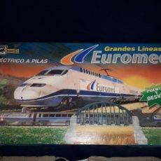 Trenes Escala: TREN ELÉCTRICO PEQUETREN GRANDES LÍNEAS EUROMED A ESTRENAR NUNCA JUGADO. Lote 110588719