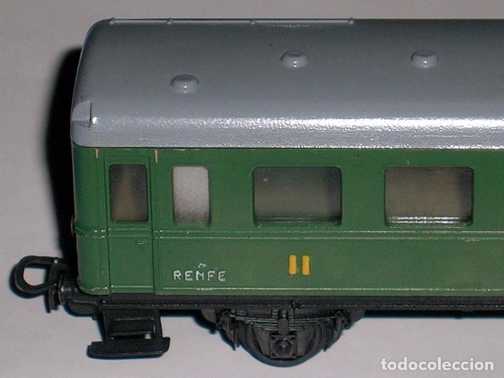 Vagón pasajeros 2ª clase Renfe, chasis calamina perfecto, Jye Jyesa esc H0, original años 60. segunda mano