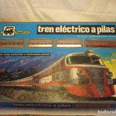 Trenes Escala: TREN ELÉCTRICO A PILAS,DE PEQUETREN, AÑOS 80, NUEVO A ESTRENAR. Lote 112130995
