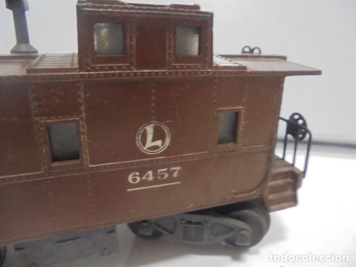 Trenes Escala: LOTE DE TRENES LIONEL. LOCOMOTORA, VAGON, VAGON GRUA, APARATO VIAS. BUEN ESTADO. VER FOTOS Y LEER - Foto 22 - 112317923