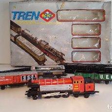 Trenes Escala: TREN 33, JUGUETES 33, TREN, VIAS, VAGONES, EN CAJA. Lote 112694655