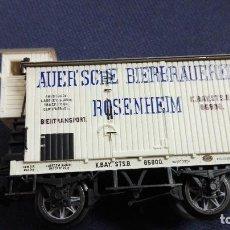 Trenes Escala: VAGON TRIX DE CARGA. AUER- SCHE BIERBRAUEREI - ROSENHEIM. SIN CAJA. Lote 113400775