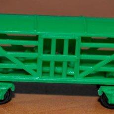 Trenes Escala: VAGÓN JAULA CON 2 CABALLOS TIPO DUNKIN/CONGUITOS. ESCALA N. Lote 113520495