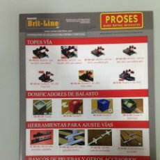 Trenes Escala: TRENES, DIPTICO PROSES MODEL RAILWAY ACCESSORIES, BRIT-LINE. Lote 113829395