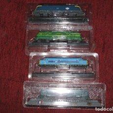 Trenes Escala: 4 TRENES (MAQUINAS) EN SUS BLISTER ORIGINALES-TOTALMENTE SIN USO . Lote 114984695