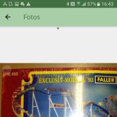Trenes Escala: KIT FALLER HO 450 MONTAÑA RUSA CON MOTOR ENVIO INCLUIDO. Lote 115324399
