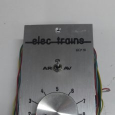 Trenes Escala: REGULADOR VELOCIDAD TRENES ELECTRAINS ENVIO INCLUIDO. Lote 115733115