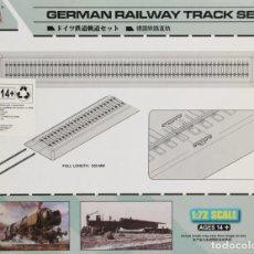 Trenes Escala: MAQUETA VÍAS DE TREN, RECTAS, REF. 82902, 1/72, HOBBY BOSS. Lote 116390823
