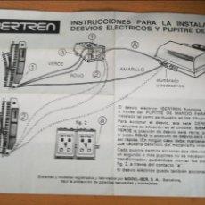 Trenes Escala: IBERTREN INSTRUCCIONES PARA DESVÍOS ELÉCTRICOS Y PUPITRE DE MANDOS. Lote 116544790