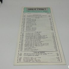 Trenes Escala: IBERTREN TARIFA DE PRECIOS VENTA AL PÚBLICO 1992. Lote 117143835