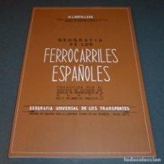 Trenes Escala: GEOGRAFÍA DE LOS FERROCARRILES ESPAÑOLES (ENVÍO GRATIS). Lote 118371715