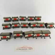 Trenes Escala: LOTE DE 16 TOPES DE VIA ELECTROTREN PARA DECORAR MAQUETA DE TREN ESCALA H0. Lote 118442591