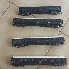 Trenes Escala: 4 COCHES VIAJEROS WAGONLITS HO. Lote 118454454