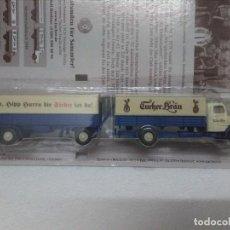 Trenes Escala: CAMIÓN CERVECERO CON REMOLQUE H0 1/87 ENVÍO GRATIS. Lote 119024815