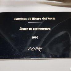 Trenes Escala: CAMINOS DE HIERRO DEL NORTE . ALBUM DE LOCOMOTORAS 1909 MAF . 1992. Lote 119032454