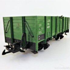 Trenes Escala: LGB LEHMANN VAGÓN CARGA ABIERTO. BORDE MEDIO. Lote 119089755