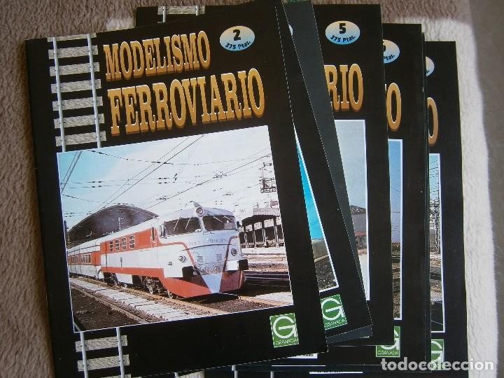 MODELISMO FERROVIARIO, 8 FASCÍCULOS, EDICIONES GRANADA, 1993. (Juguetes - Trenes - Varios)