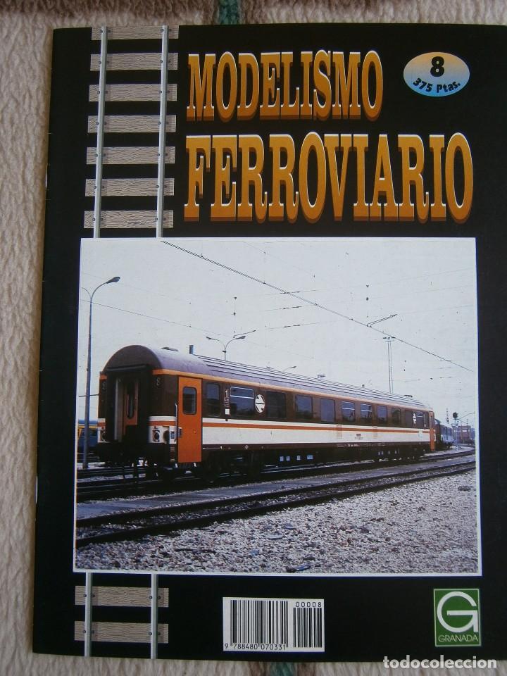 Trenes Escala: MODELISMO FERROVIARIO, 8 FASCÍCULOS, EDICIONES GRANADA, 1993. - Foto 8 - 120388663
