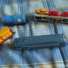Trenes Escala: MAQUNA Y TRES VAGONES JOUE. Lote 120936295