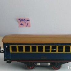Trenes Escala: ANTIGUO VAGON DE TREN ESCALA 0 PAYA . Lote 121735855