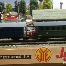 Trenes Escala: COMPOSICION VAGONES PLATAFORMA PASAJEROS JYESA I Y II SERIE 1600. Lote 122235199