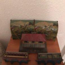 Trenes Escala: LOTES TRENES DE HOJALATA ANTIGUOS. Lote 122478107