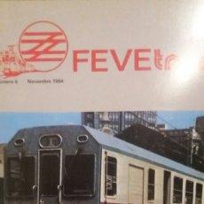 Trenes Escala: REVISTA FEVE TREN N°6 NOV. 1984. Lote 123071912