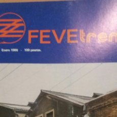 Trenes Escala: REVISTA FEVE TREN N°12 ENERO 86. Lote 123072322