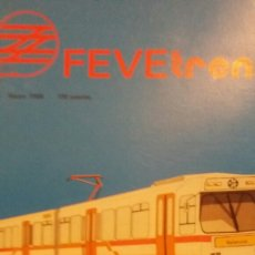 Trenes Escala: REVISTA FEVE TREN N°13 MARZO 1986. Lote 123072426