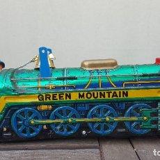 Trenes Escala: ANTIGUO JUGUETE TREN DE HOJALATA (LATA) GREEN MOUNTAIN. Lote 124032611