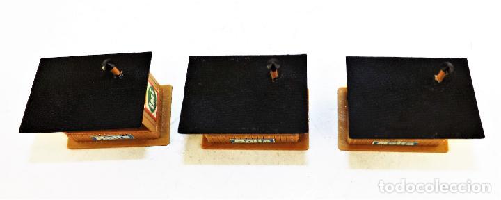 Trenes Escala: Trenes H0 tres kioscos montados para maquetas y dioramas 1:87 - Foto 2 - 124310027