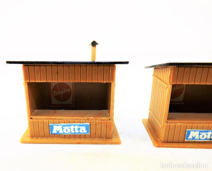 Trenes Escala: Trenes H0 tres kioscos montados para maquetas y dioramas 1:87 - Foto 3 - 124310027