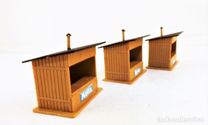Trenes Escala: Trenes H0 tres kioscos montados para maquetas y dioramas 1:87 - Foto 4 - 124310027