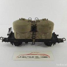 Trenes Escala: VAGON PLATAFORMA CON 2 DEPOSITOS 075251 SBB CFF POCHER 311/2 ESCALA H0. Lote 125072027