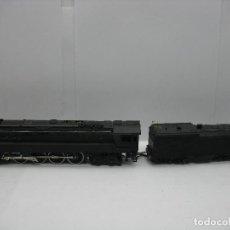 Trenes Escala: BACHMANN - LOCOMOTORA DE VAPOR CON TENDER REPINTADA CORRIENTE CONTINUA - ESCALA H0. Lote 125704427