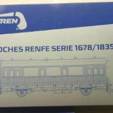 Trenes Escala: MABAR.COCHES RENFE.3.UND.NUEVOS. Lote 126811915
