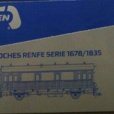 Trenes Escala: MABAR.COCHE RENFE. Lote 125838780