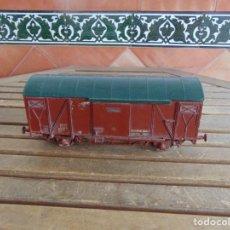 Trenes Escala: VAGON TAMAÑO GRANDE CREO ESCALA 1 DE CARGA RENFE DE MARKLIN MIDE 27.5 X 9 X 13 CM. Lote 126954379