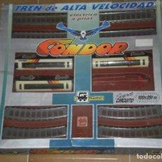 Trenes Escala: TREN DE ALTA VELOCIDAD CONDOR , PEQUETREN ( MADE IN SPAIN ) AÑOS 80 . REF:70 . SOLO PARA PIEZAS VER. Lote 127547663