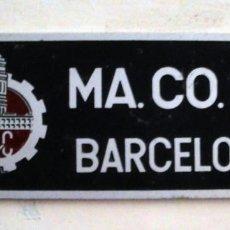 Trenes Escala: PLACA MA.CO.SA. BARCELONA. Lote 127880851