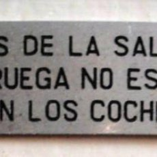 Trenes Escala: RENFE. PLAQUITA. SE RUEGA NO ESCUPIR.... Lote 128013995