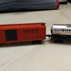 Trenes Escala: DOS VAGONES DE TREN.. Lote 129702023