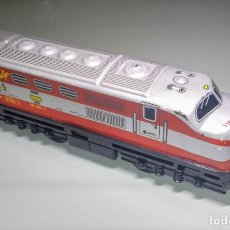Trenes Escala: LOCOMOTORA RENFE TALGO VIRGEN DEL CARMEN. Lote 130723674
