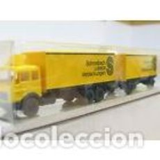 Trenes Escala: CAMIÓN CON REMOLQUE WIKING. Lote 143764097