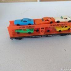 Trenes Escala: TYCO VAGON CON COCHES HO CON CAJA ORIGINAL. Lote 131661193