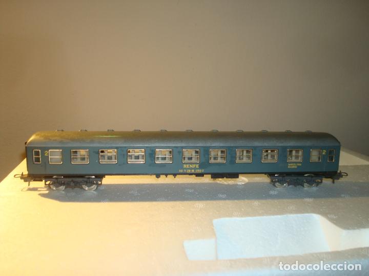 vagon ibertren escala ho pasajero 2º clase barcelona madrid color verde segunda mano